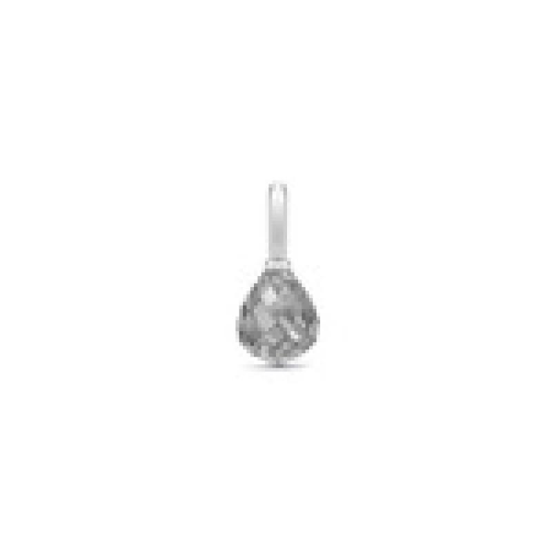EVENING DEW vedhæng grå krystal sølv