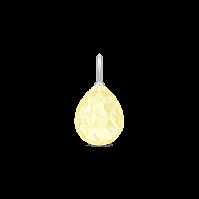 BALLERINA vedhæng lemon krystal sølv