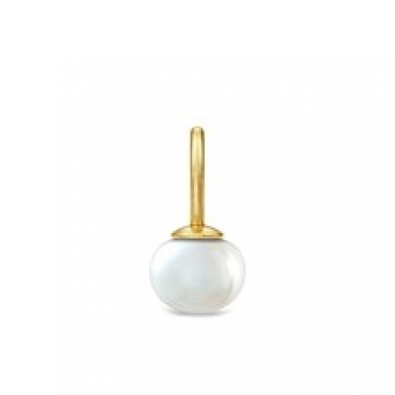 PERLA forgyldt vedhæng med lille rund perle