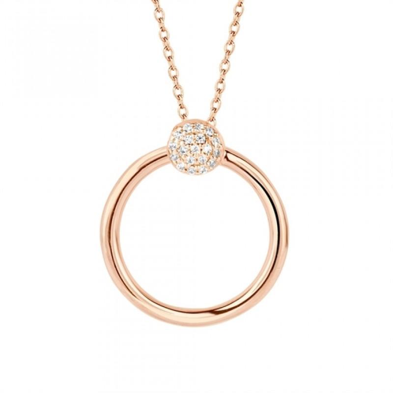 Perfection halskæde, rosa forgyldt