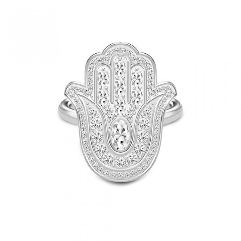 Hamsa Protection ring, sølv