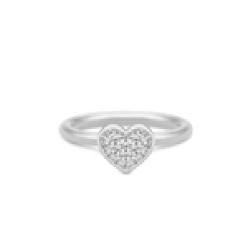 PURE HEART ring sølv