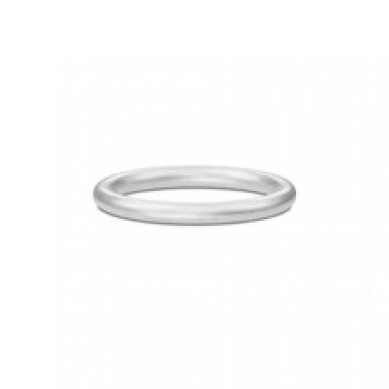 CLASSIC ring sølvrhodineret