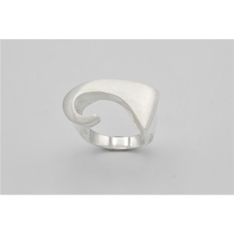 Wave ring, sølv