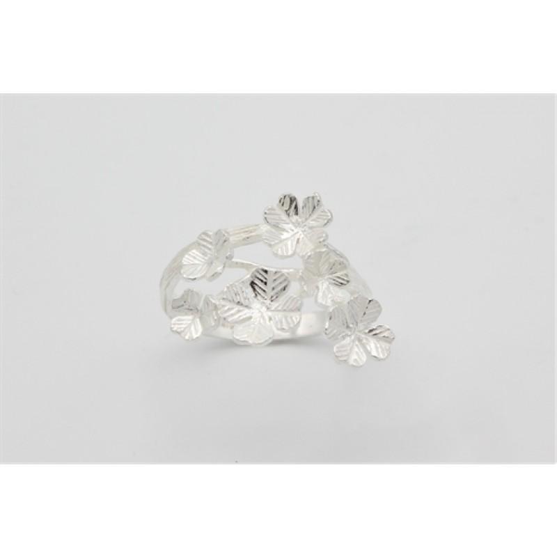 Flower sølv ring