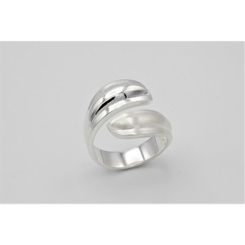 Silver leaf, ring