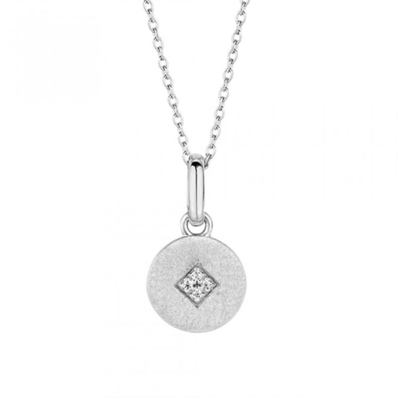 Shine halskæde 45 cm sølv