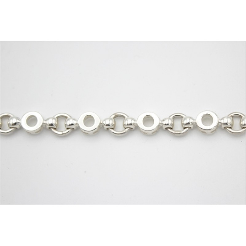 Cirkler, sølv armlænke