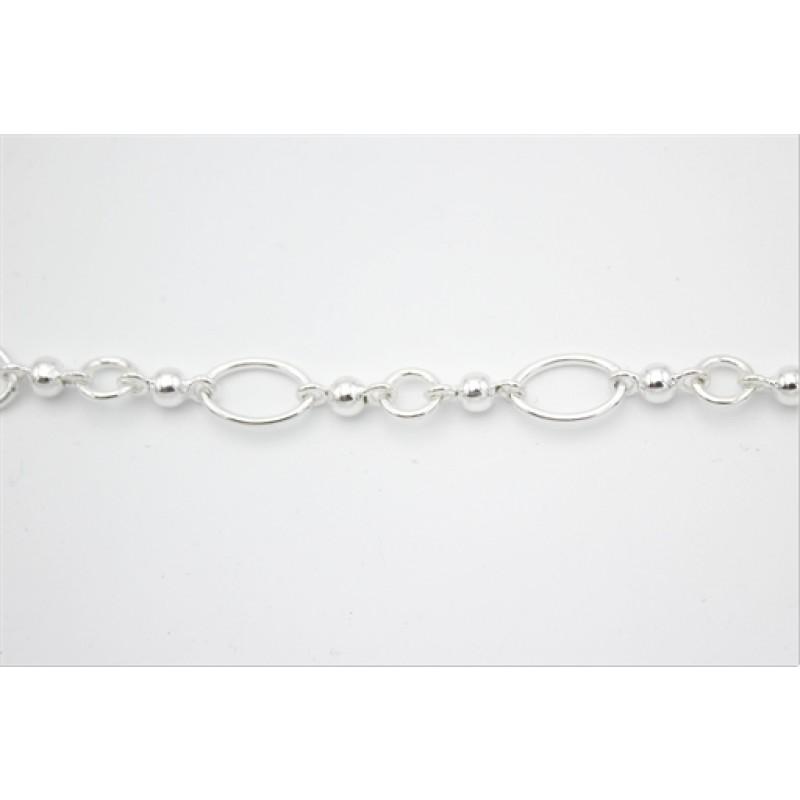Circle sølv armlænke