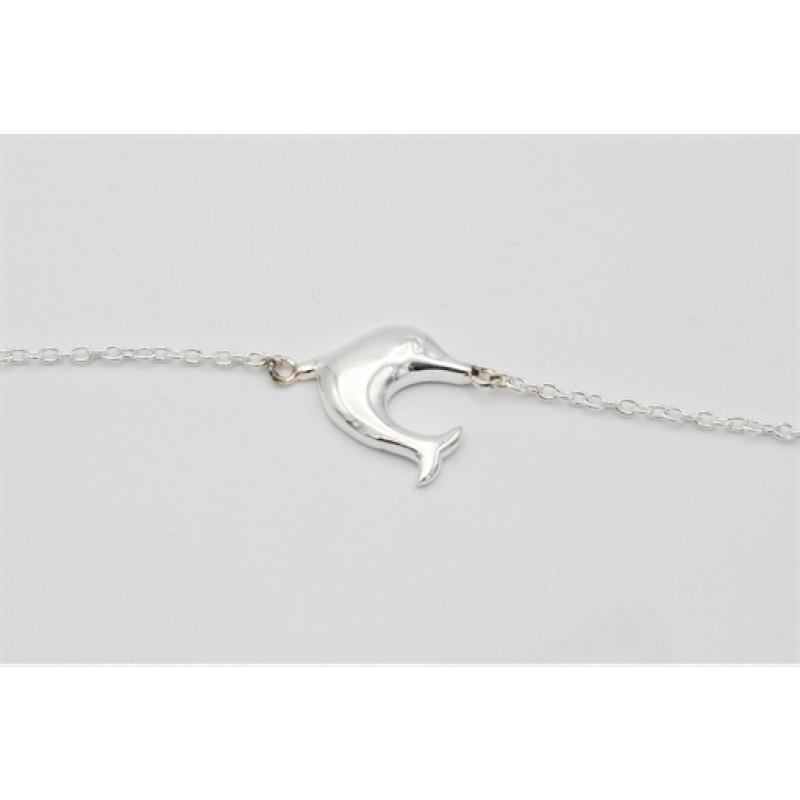 Sølv armlænke, delfin