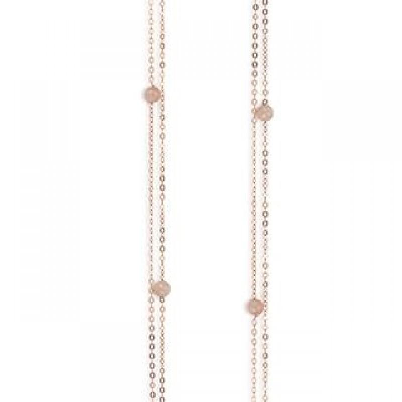c10037,90 rosa halskæde med kvarts