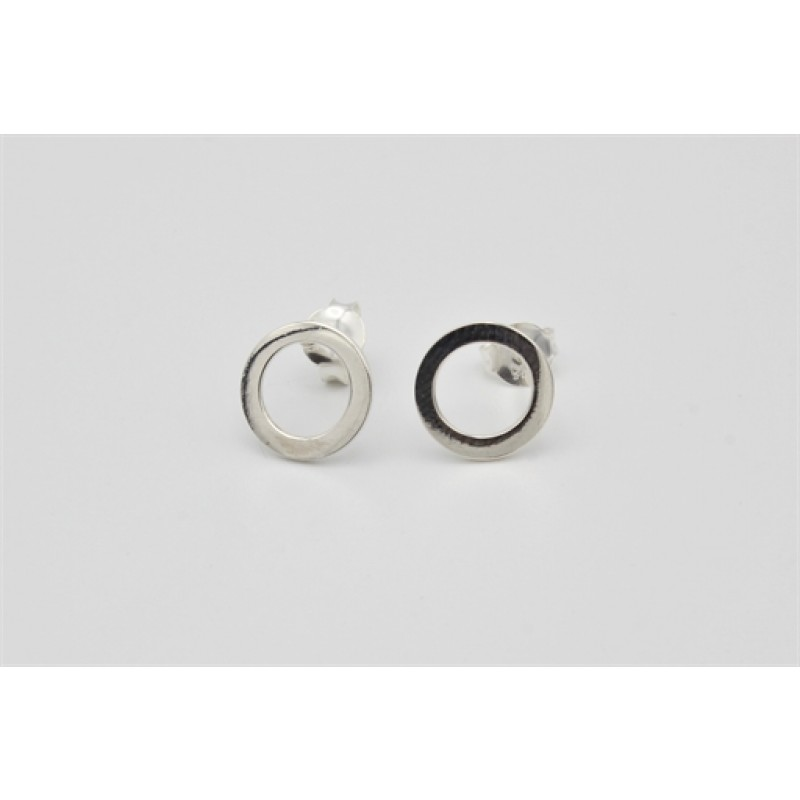 Sølv ørestikker, cirkel