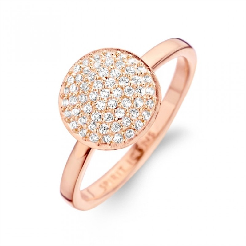 Grace ring rosa forgyldt, mellem
