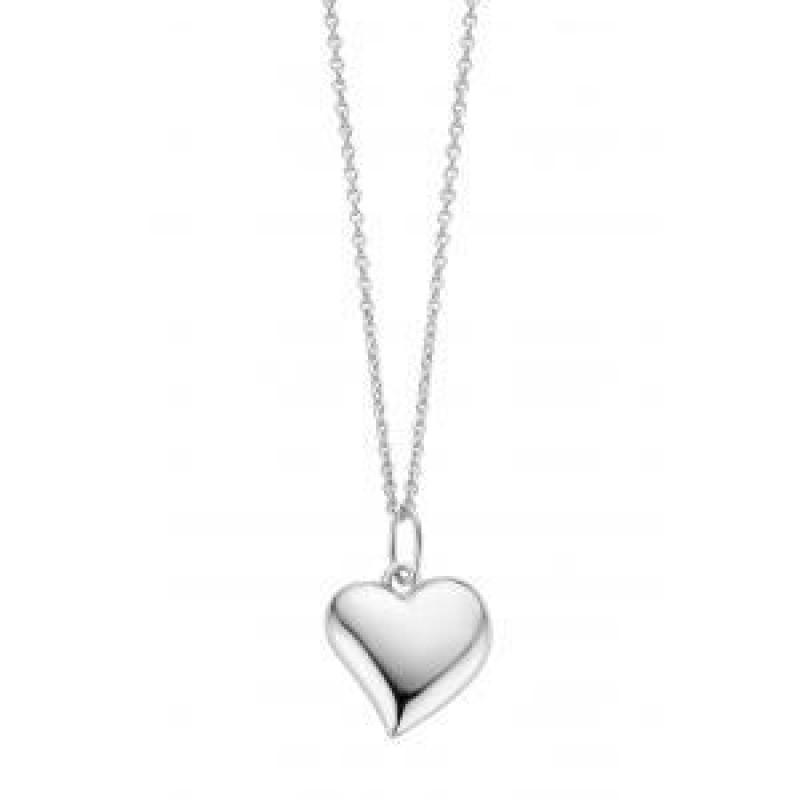 Heart halskæde, hvidguld