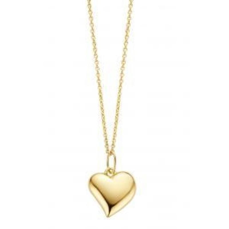 Heart halskæde, rødguld