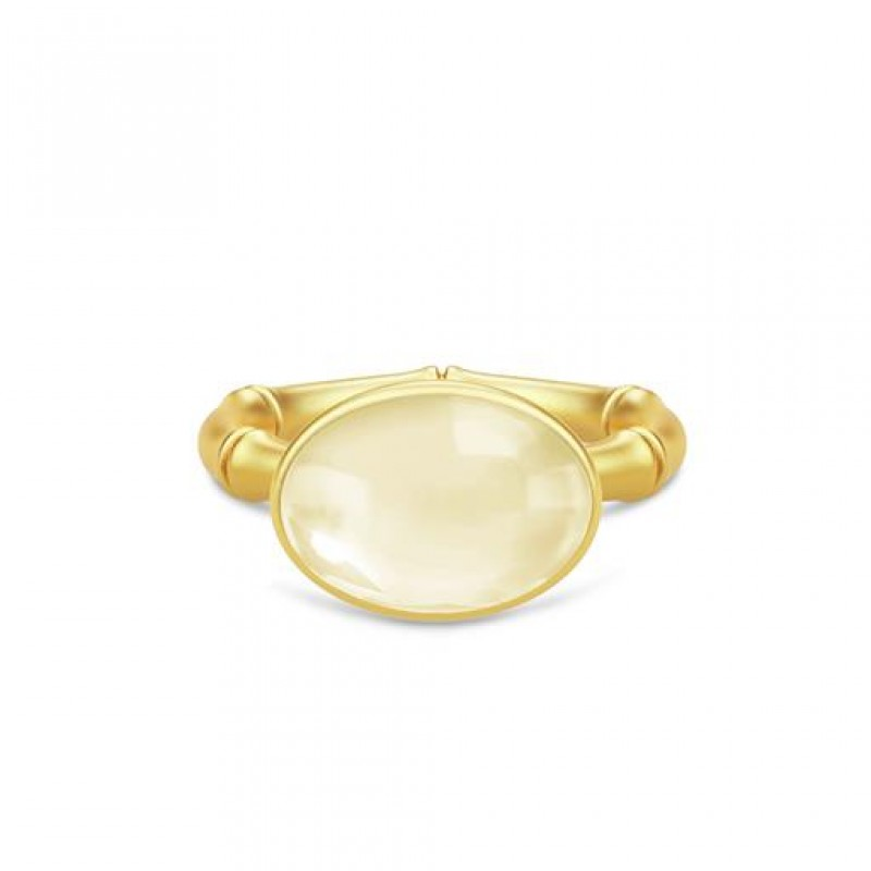 BAMBOO Forgyldt Wisdom Ring Lemon