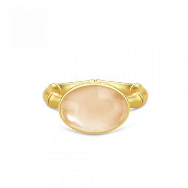 BAMBOO Forgyldt Wisdom Ring Champagne