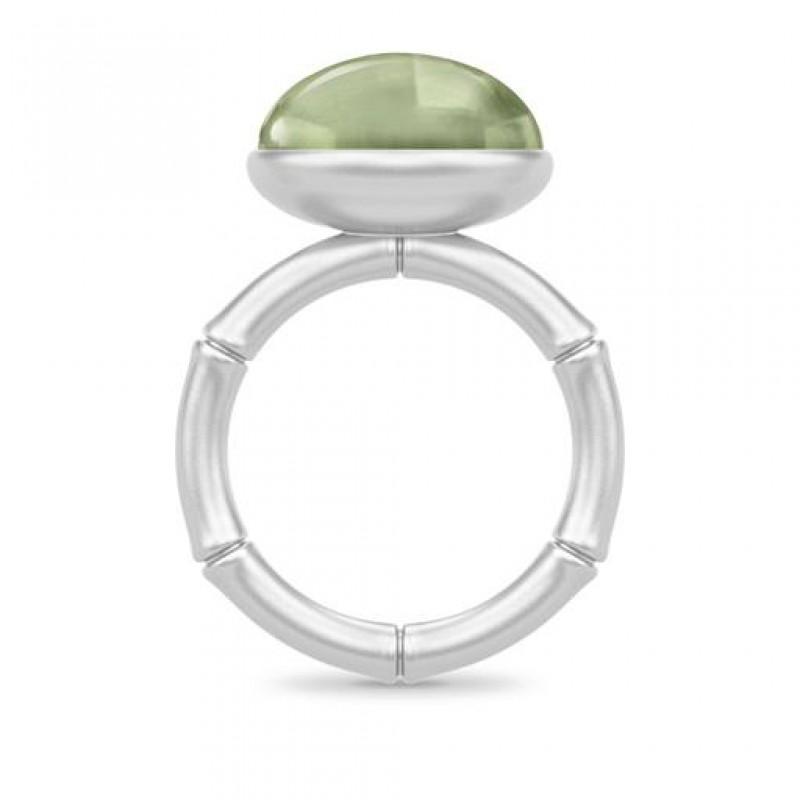 BAMBOO Sølv Wisdom Ring Grøn-01