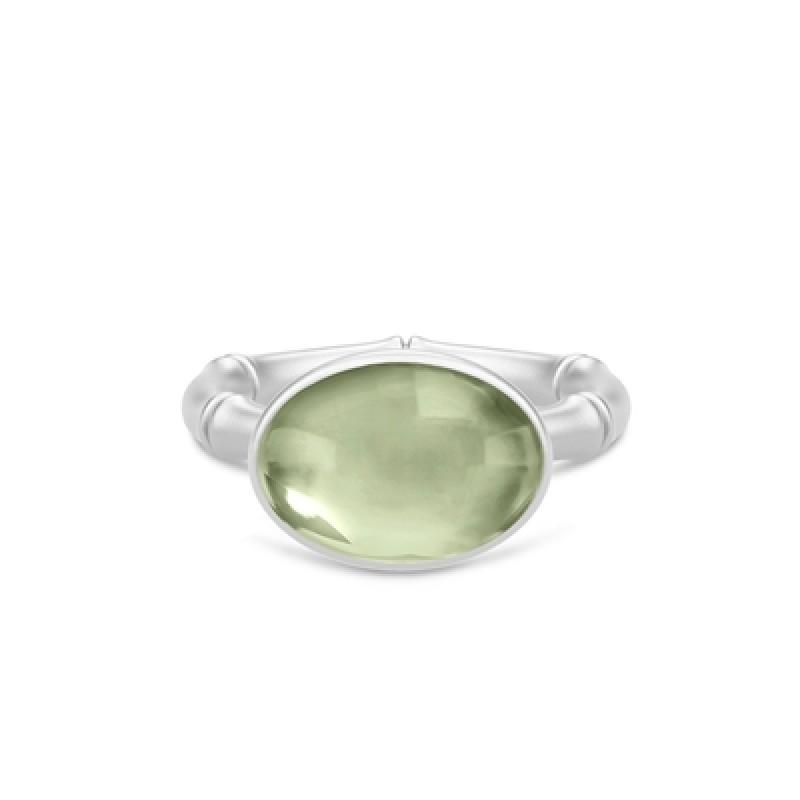 BAMBOO Sølv Wisdom Ring Grøn