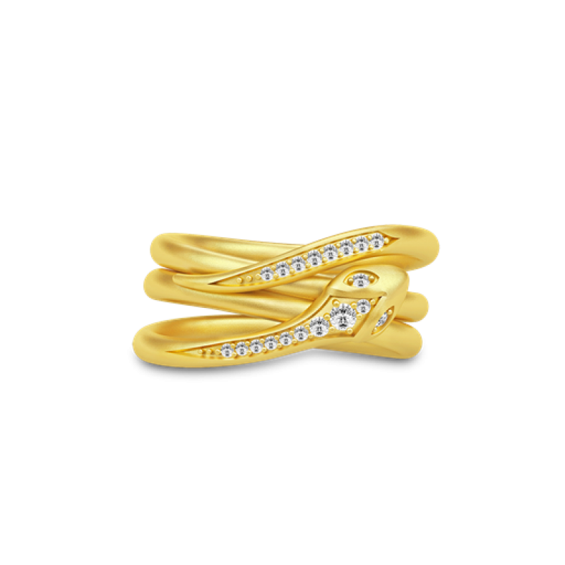 BOA Forgyldt Ring