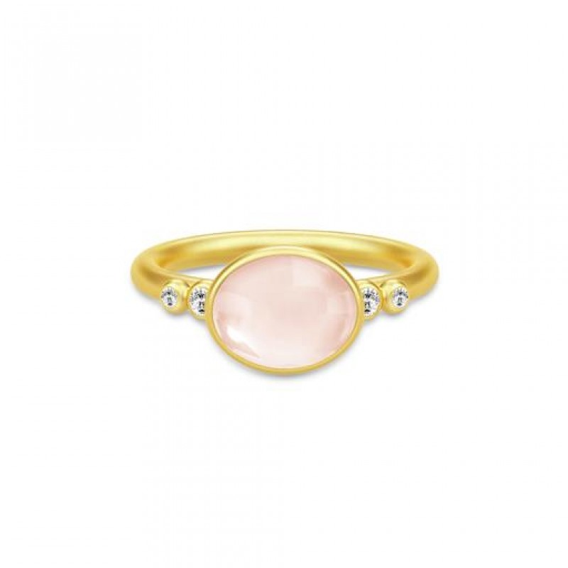 Poetry Forgyldt Ring Rosa