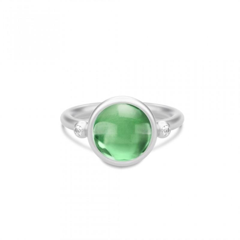 Prime Sølv Ring Grøn