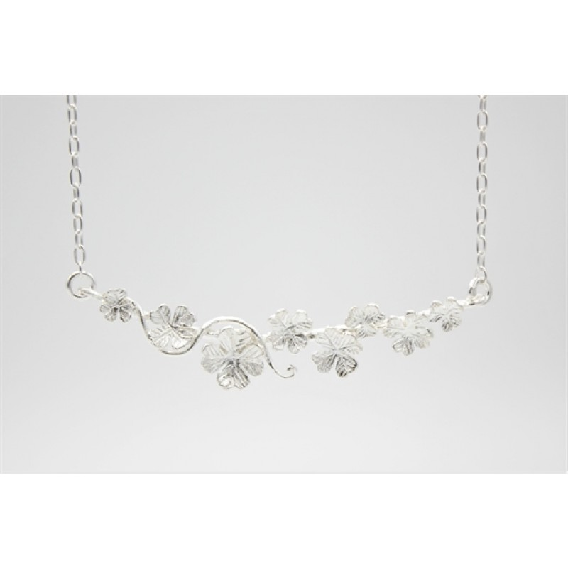 Flower halskæde i sølv