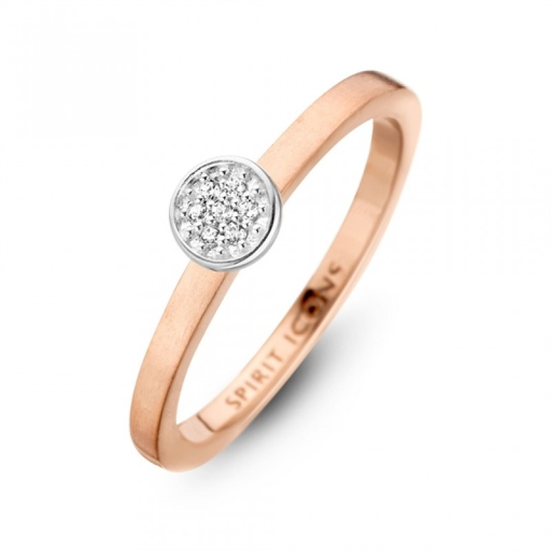 Opus ring, rosa forgyldt