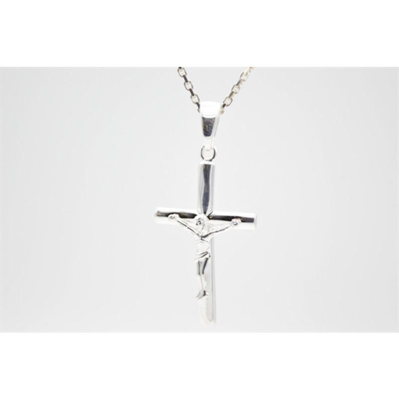 Jesus på korset, vedhæng i sølv