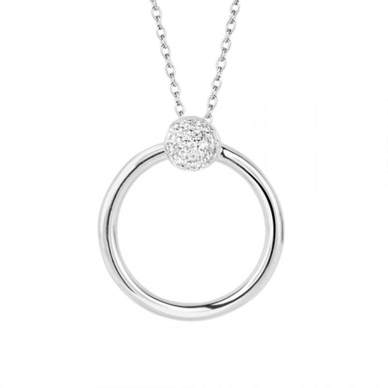 Perfection halskæde 45 cm sølv