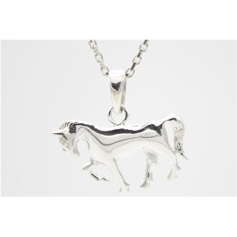 Hest, vedhæng i sølv