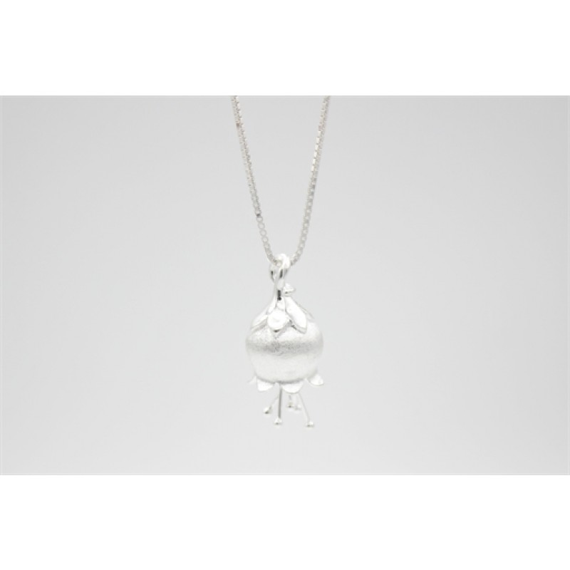 Klokkeblomst sølv halskæde