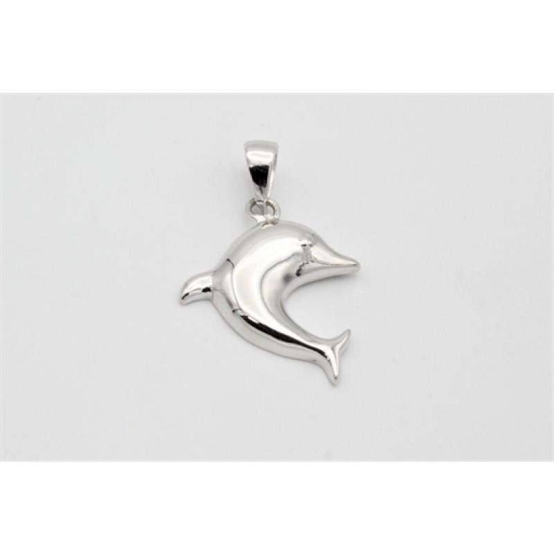 Sølv vedhæng, delfin