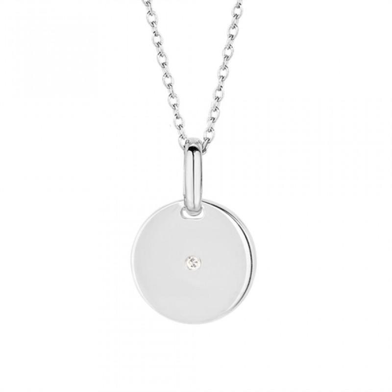 Pulse diamont halskæde, sølv