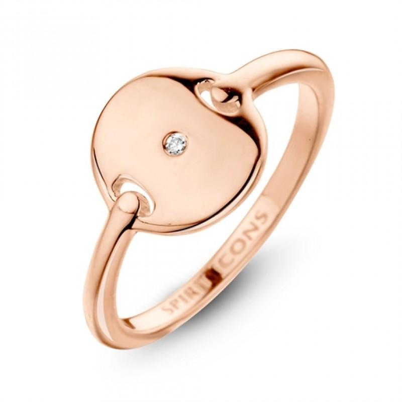 Pulse diamont ring, rosa forgyldt