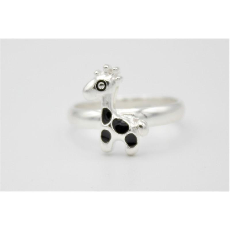 Giraf ring, sølv