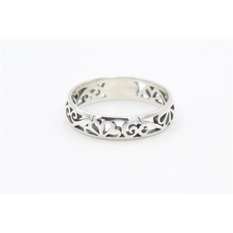 Sølv ring, med mønster
