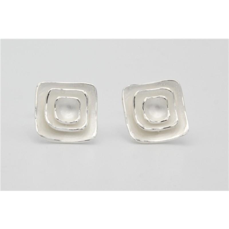 Sølv ørestikker, firkant, unik