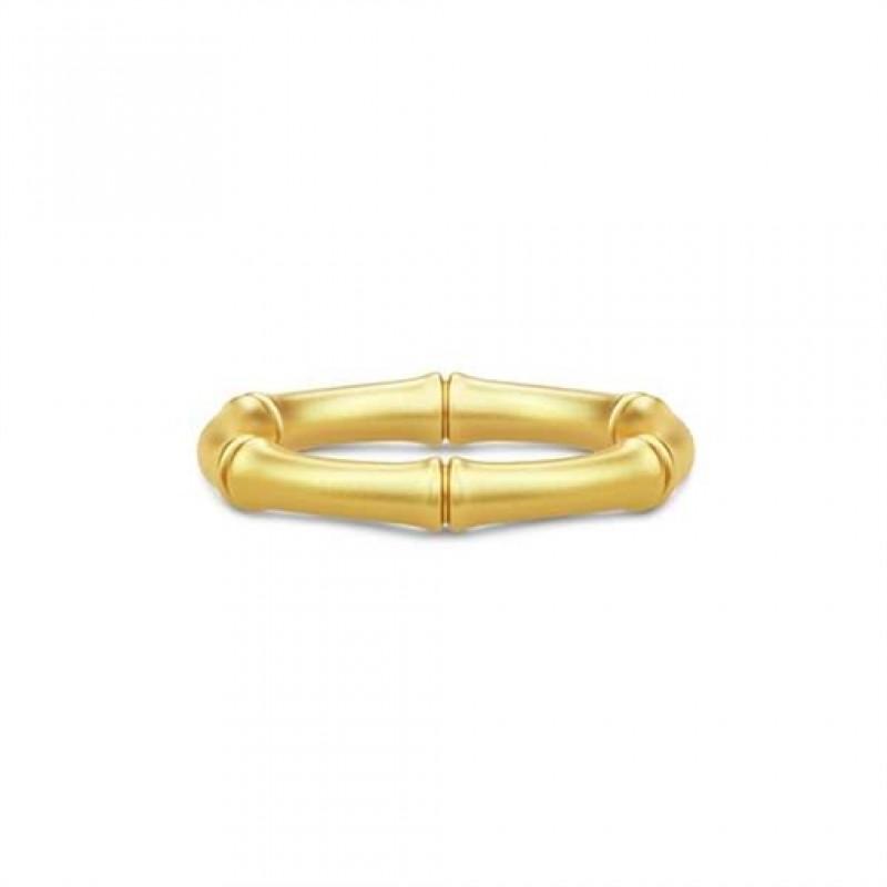 BAMBOO Forgyldt ring, bred