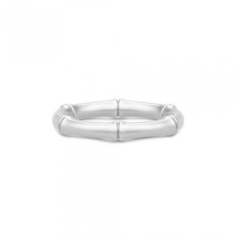 BAMBOO Sølv ring, bred