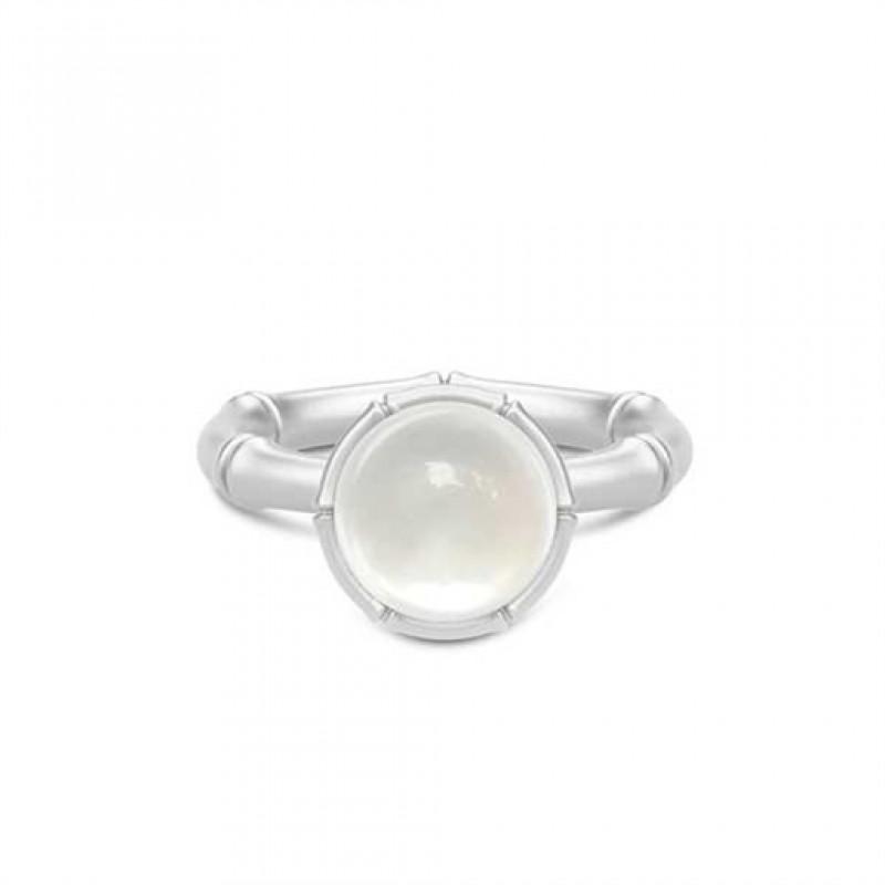 BAMBOO Sølv ring med perlemorskvarts