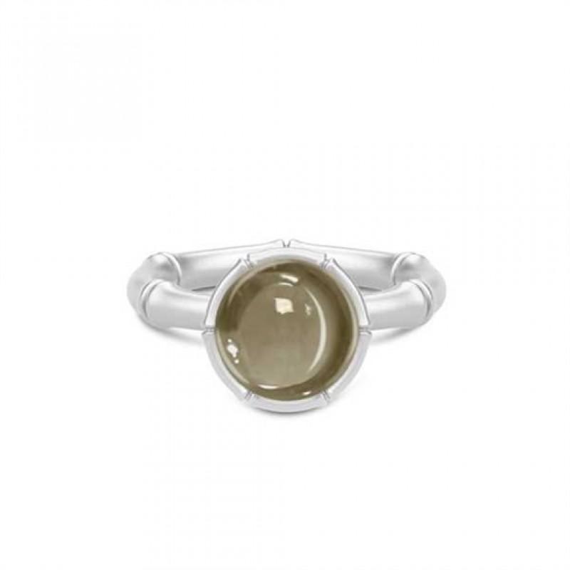 BAMBOO Sølv ring med pyritkvarts
