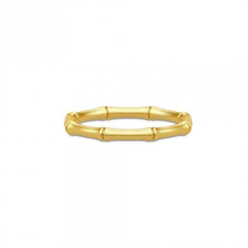 BAMBOO Forgyldt ring, smal