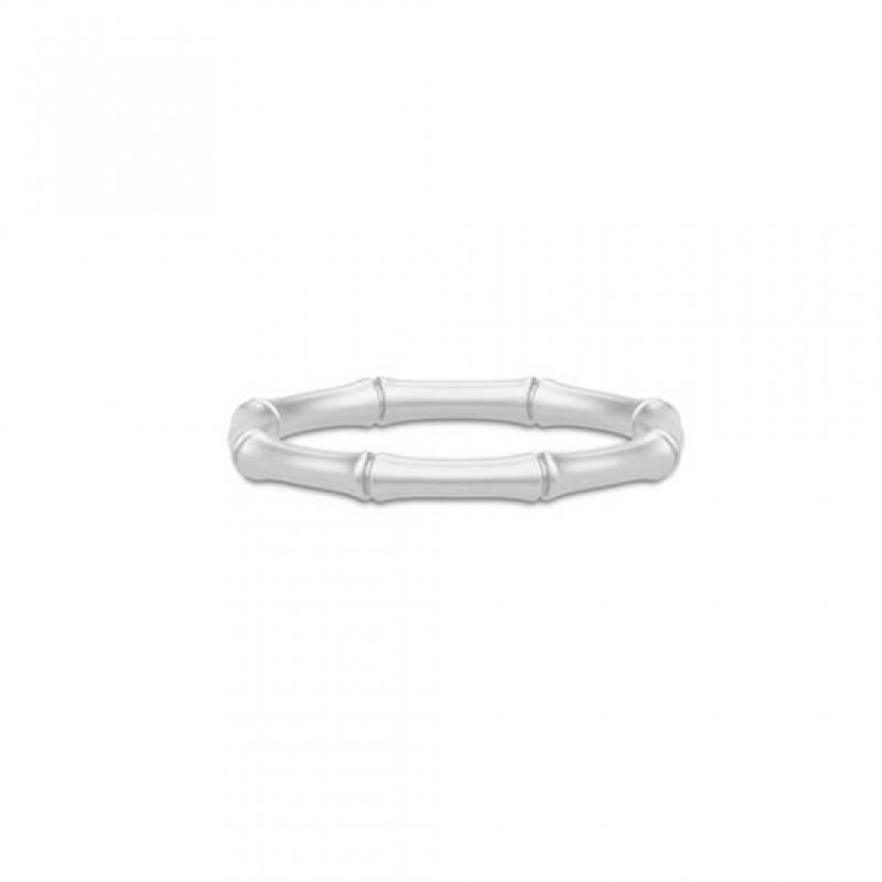 BAMBOO Sølv ring, smal