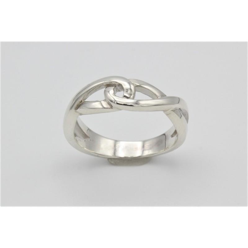 Sølv ring med snoninger