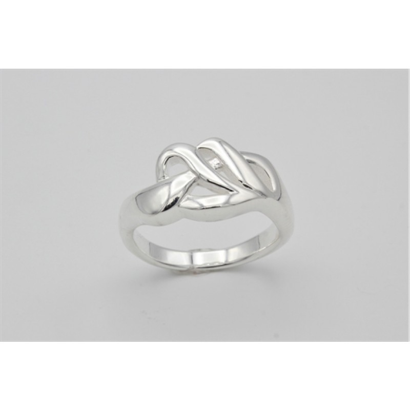 Bølget sølv ring