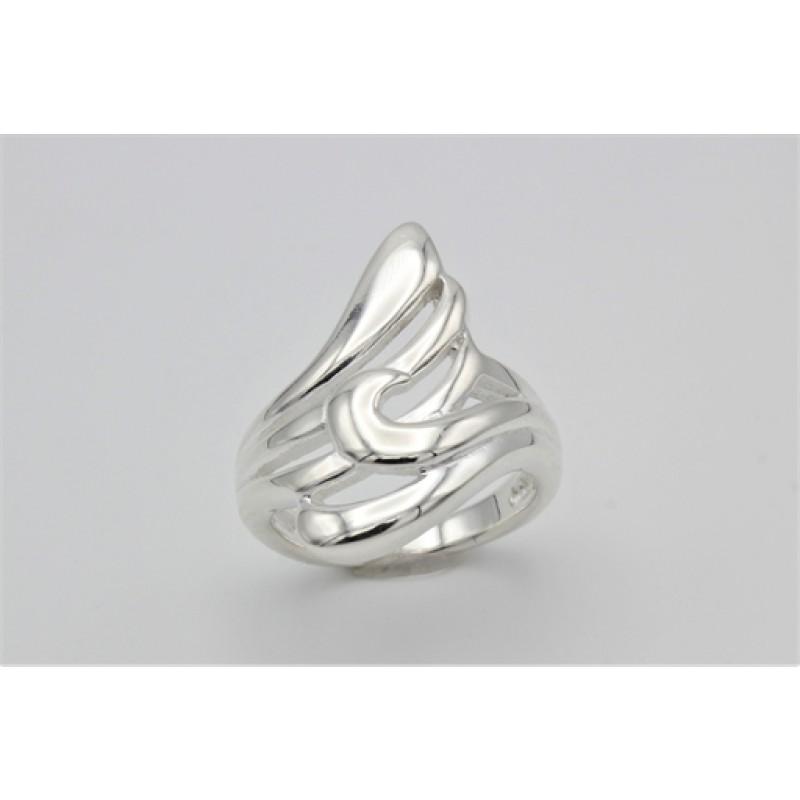 Bølget ring, sølv
