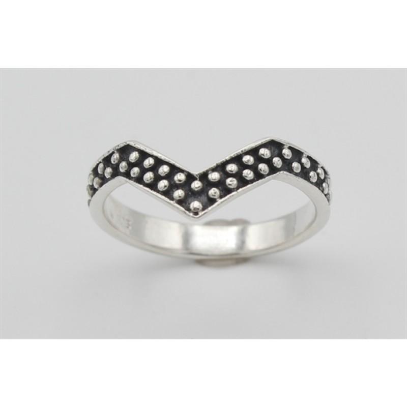 V- ring i sølv