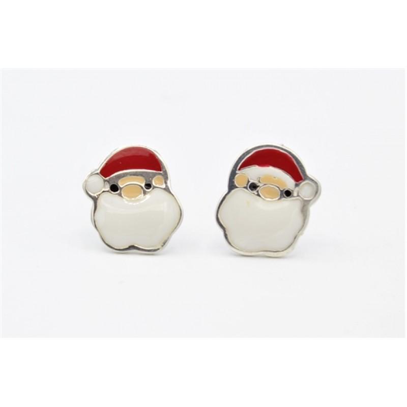 Julemand sølv ørestikker
