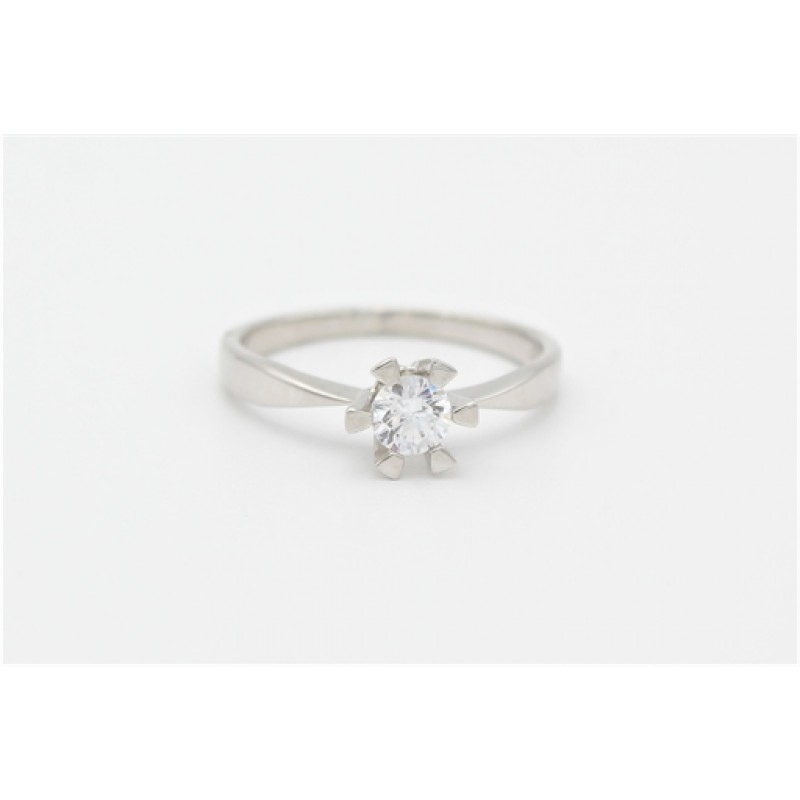Zirkonia sølv ring - 4,5 mm